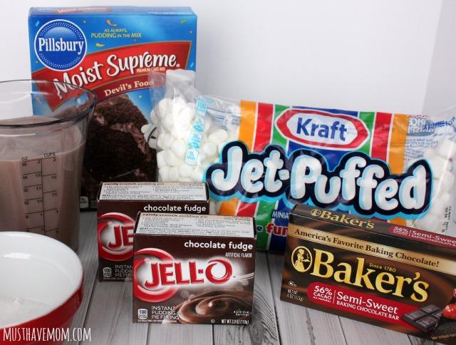 Triple Chocolate Pudding Cake Ingredients
