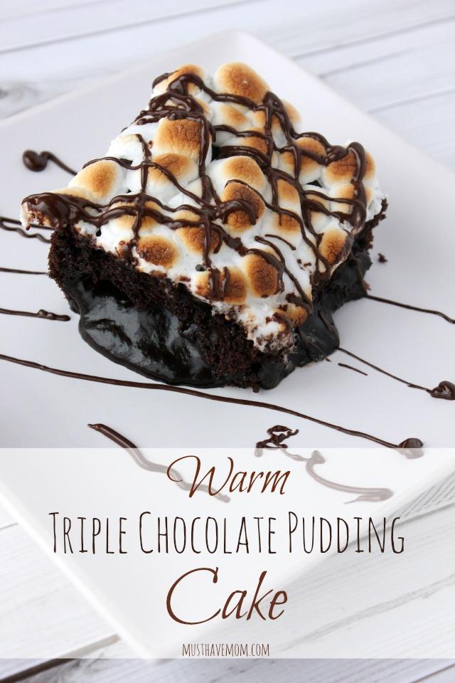 Warm Triple Chocolate Pudding Cake Recipe