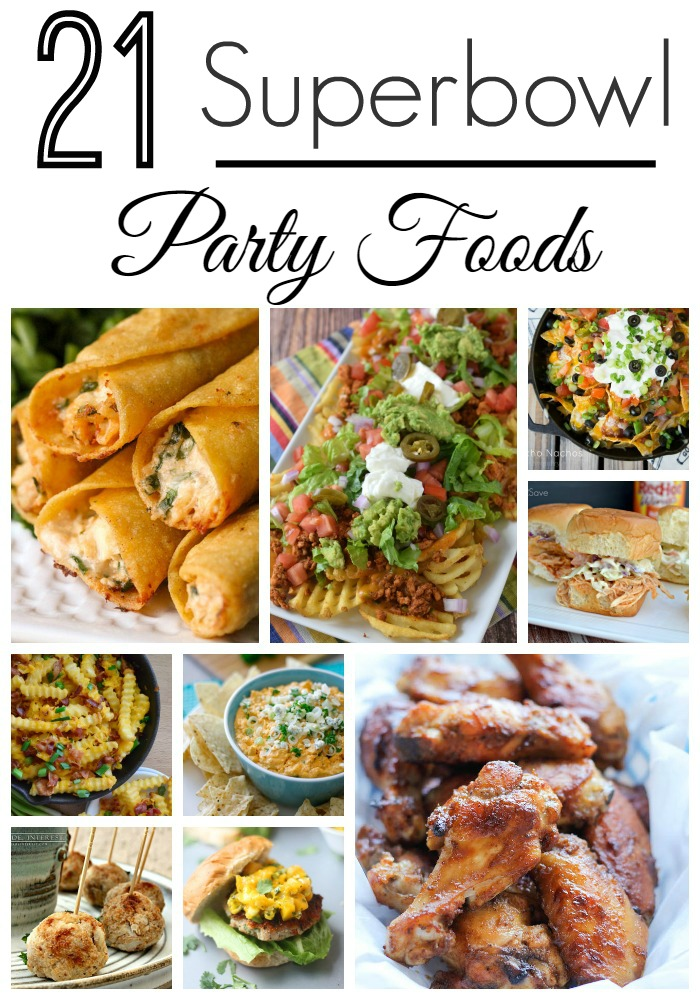 21 Superbowl Party Foods