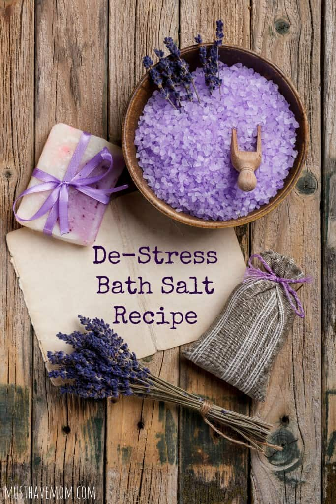 De-Stress Bath Salt Recipe