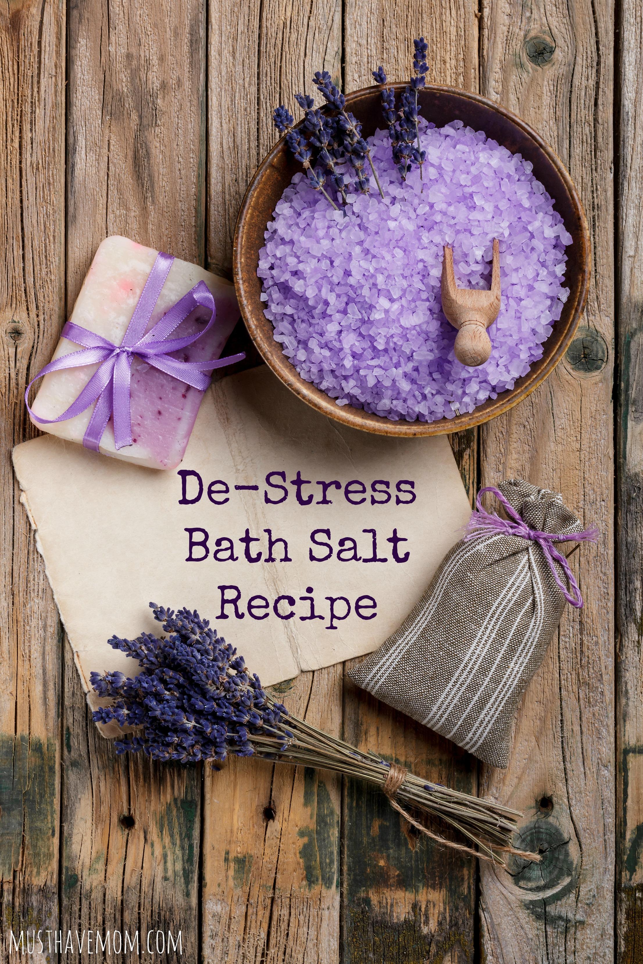 DIY De-Stress Bath Salts Recipe