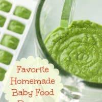 Storing Homemade Baby Food Banana