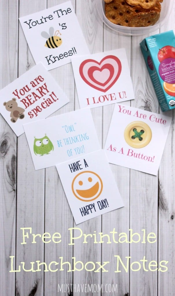 Free Printable Lunchbox Notes from Musthavemom.com