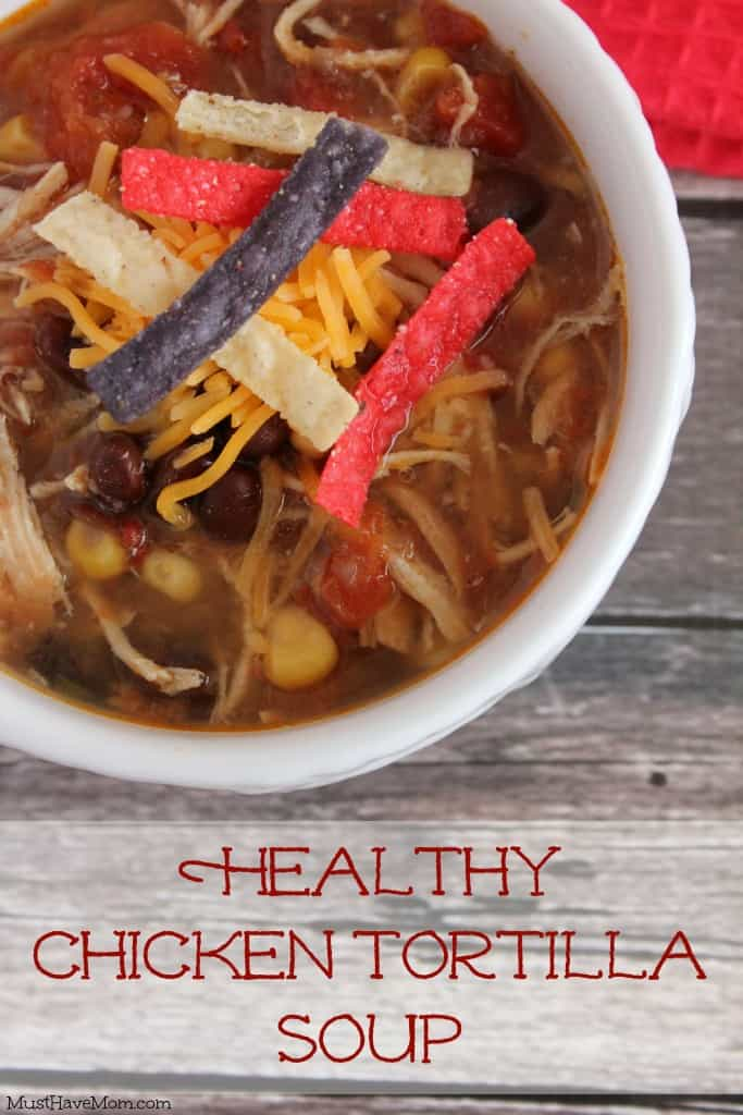 Healthy Chicken Tortilla Soup Slow Cooker Recipe