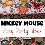Easy Mickey Mouse Party Ideas, Food & Activities!