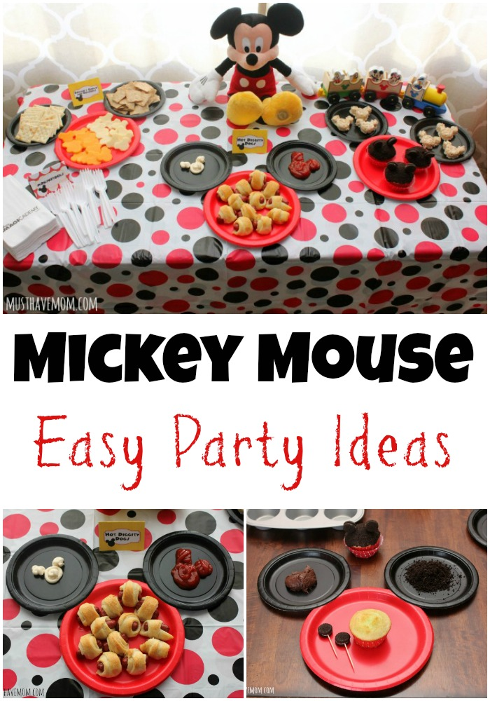 Mickey Mouse Party Easy Party Ideas, Food and Activities