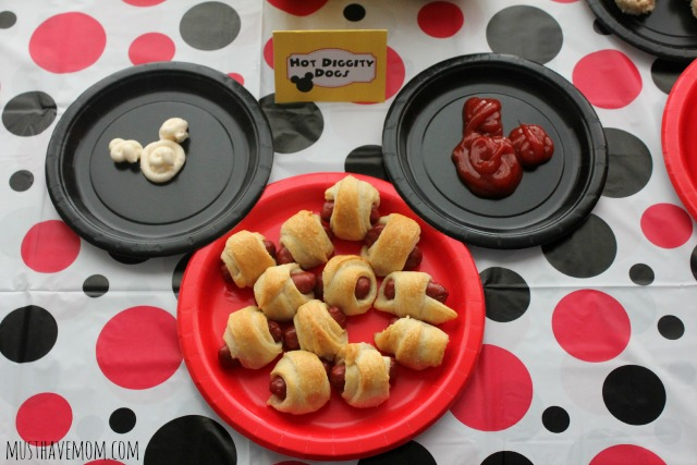 Mickey Party Food Ideas Hot Diggity Dogs!