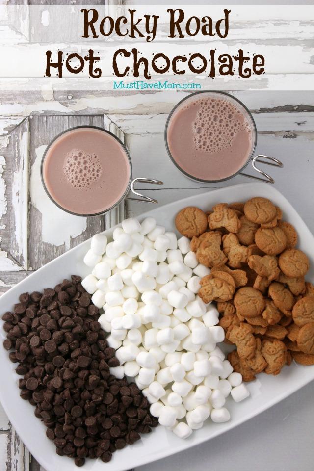 Rocky Road Hot Chocolate Recipe + Snow Paint Sensory Bin!