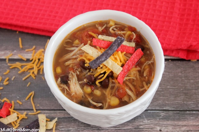Healthy Slow Cooker Chicken Tortilla Soup Recipe