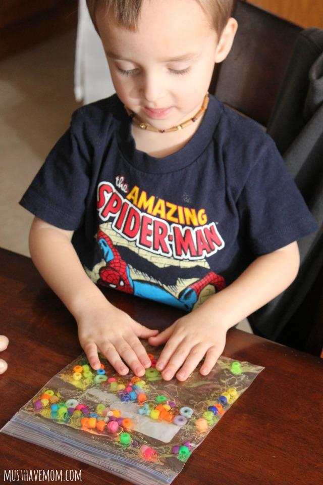 Toddler Sensory Bag Idea