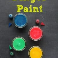DIY Edible Finger Paint Recipe For Babies and Toddlers!