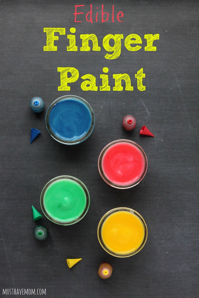 DIY Edible Finger Paint Recipe for Babies and Toddlers