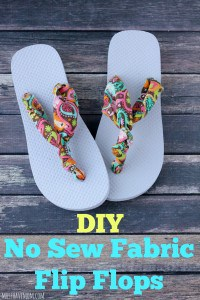DIY No Sew Fabric Flip Flops - Super easy, cheap and trendy!