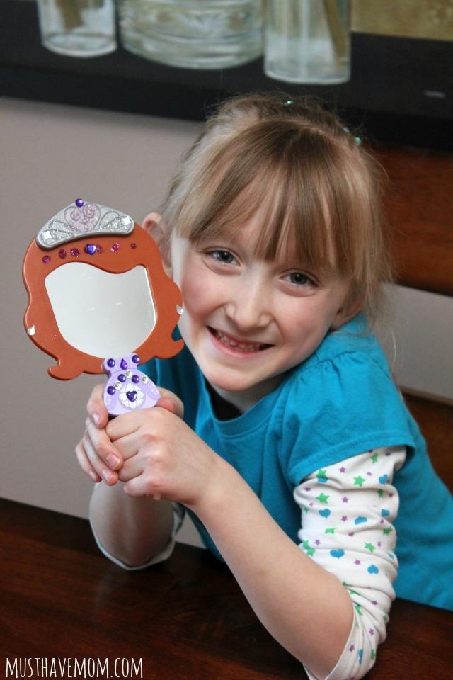 DIY Sofia the First Mirror