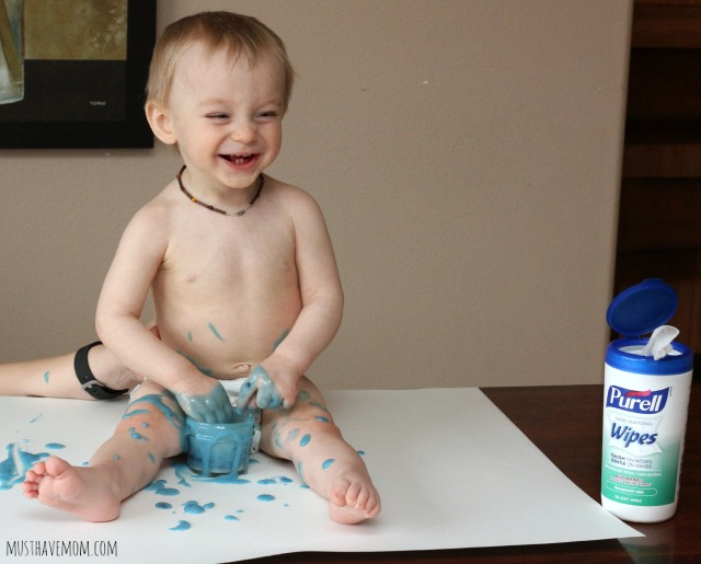 Edible Finger Paint Messy Baby