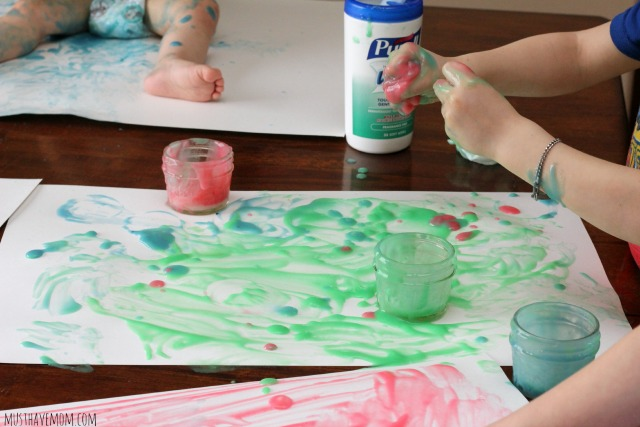 Edible Finger Paint That Dries