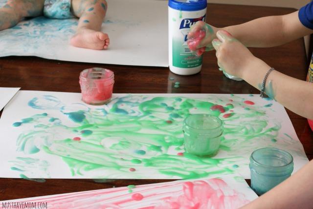 Edible Finger Paint That Dries