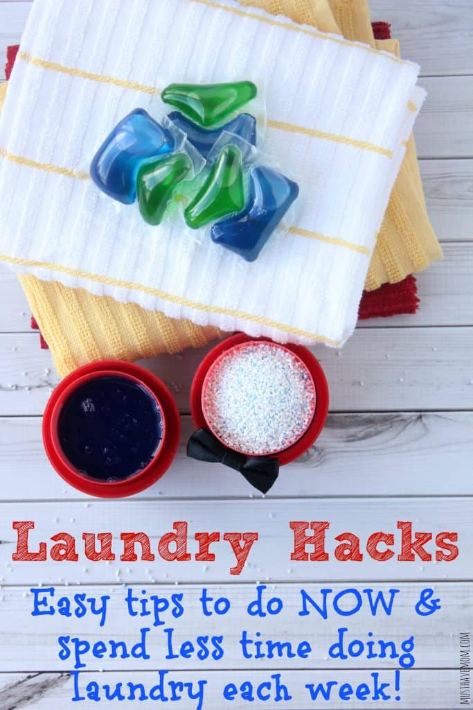 Laundry Hacks Easy tips to do NOW and spend less time doing laundry each week!