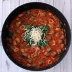 One Pot Spinach and Sausage Tortellini In Tomato Cream Sauce Recipe