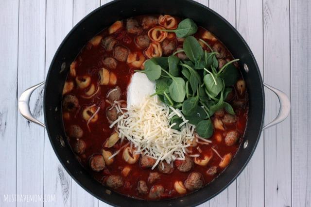 One Pot Tortellini Pasta Recipe