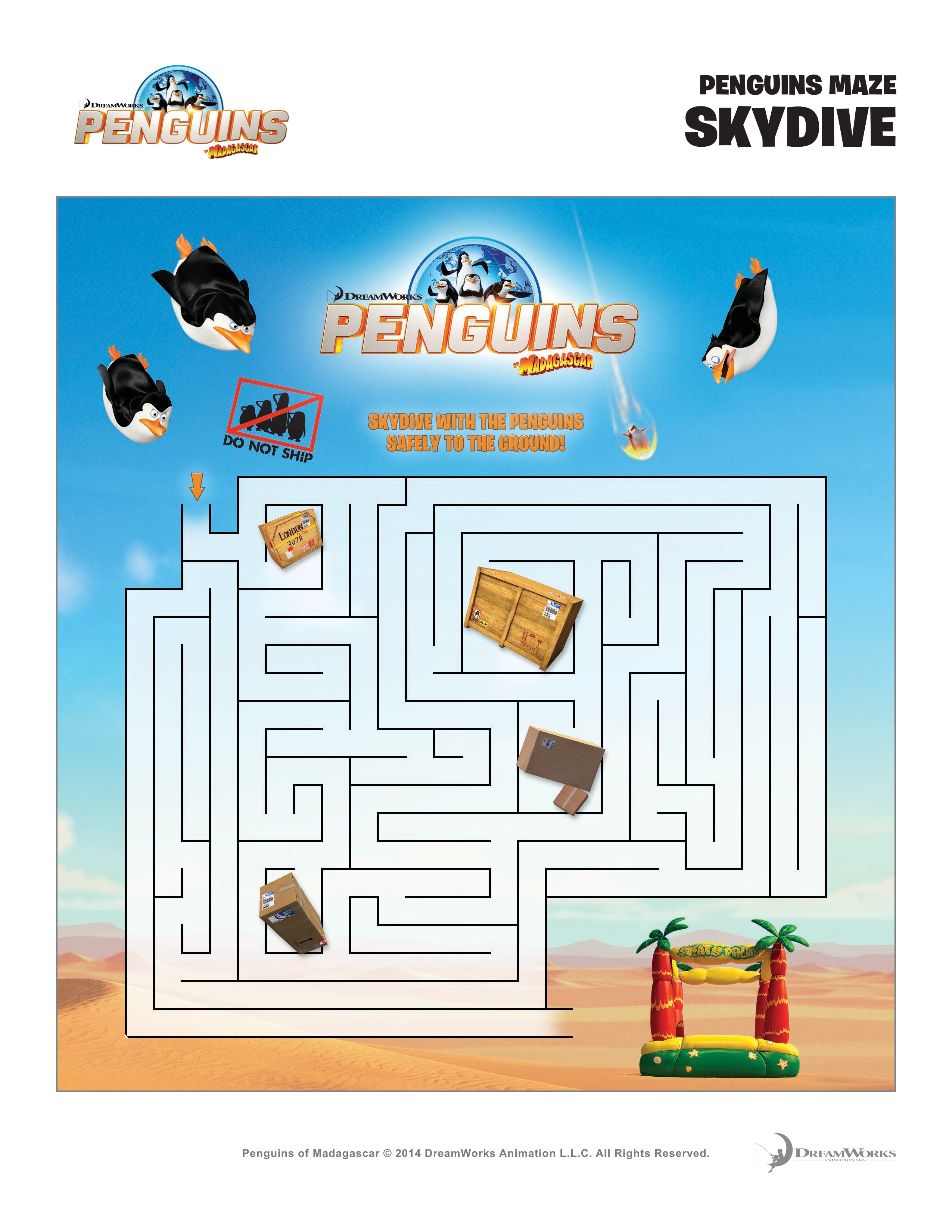 Free Printable Penguins of Madagascar Activity Sheets! {+ Giveaway!}