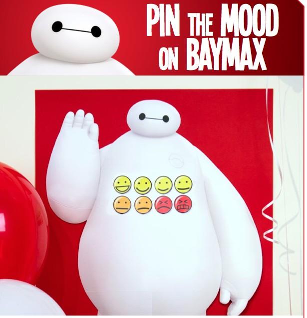 Big Hero 6 Free Printable Pin the Mood on Baymax Game