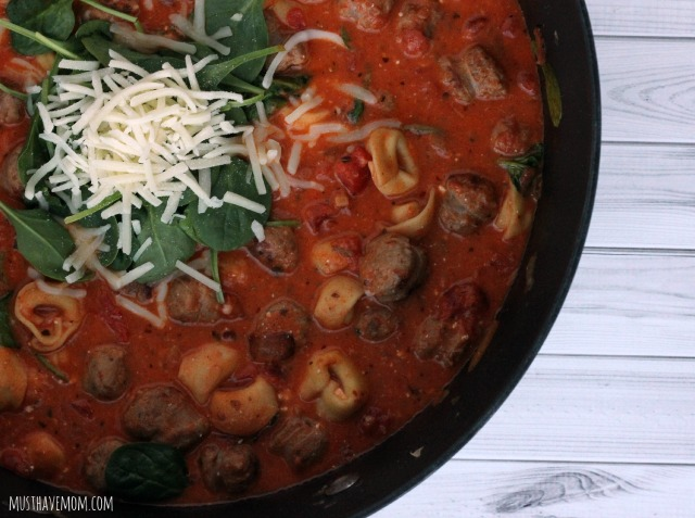 Spinach and Sausage Tortellini Recipe