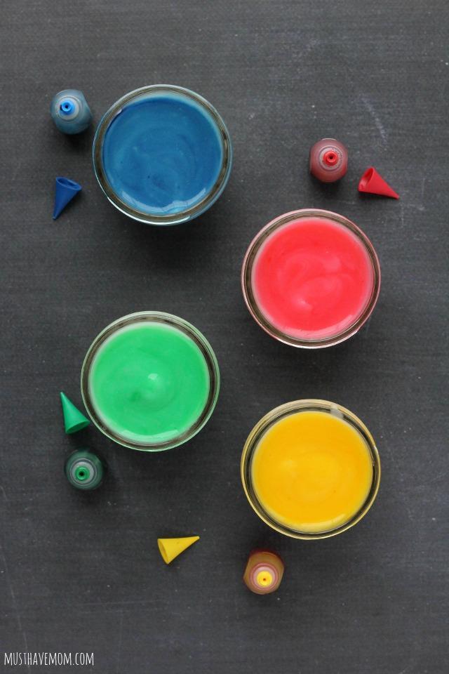Toddler Edible Finger Paint Recipe