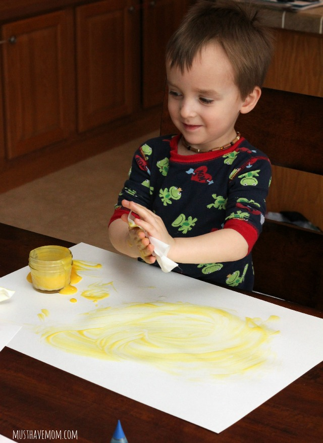 Toddler finger paint recipe