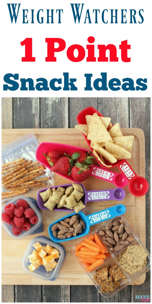 Weight Watchers 1 Point Snack Ideas + Portion Size Tricks!