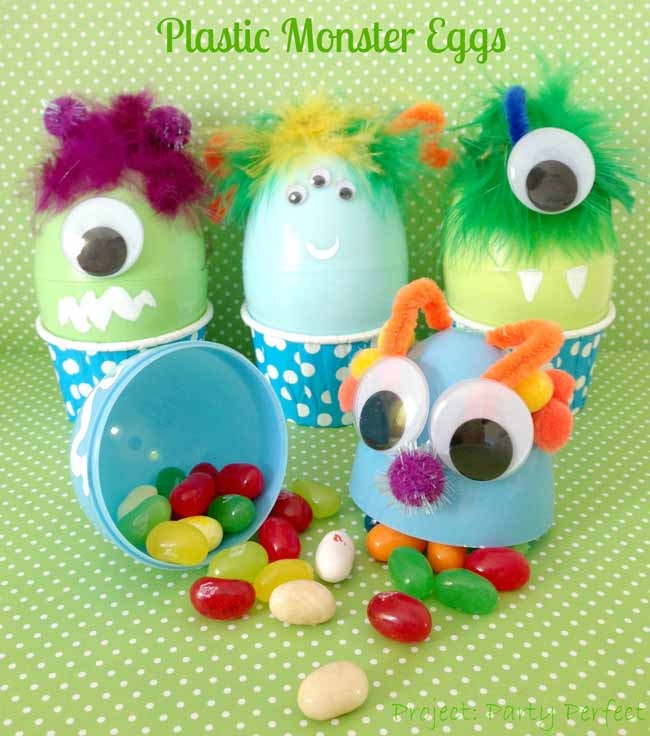 Plastic Monster Easter Eggs