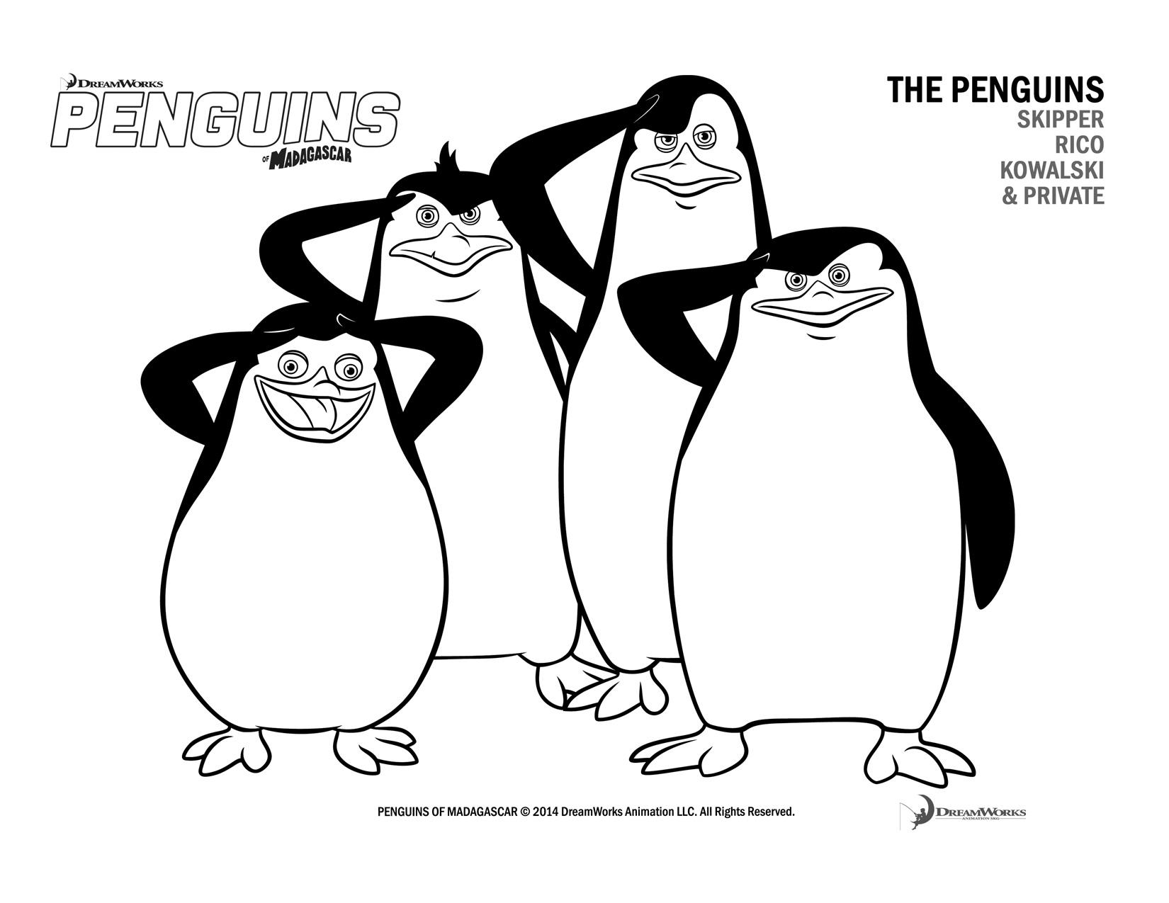 free printable penguins of madagascar activity sheets