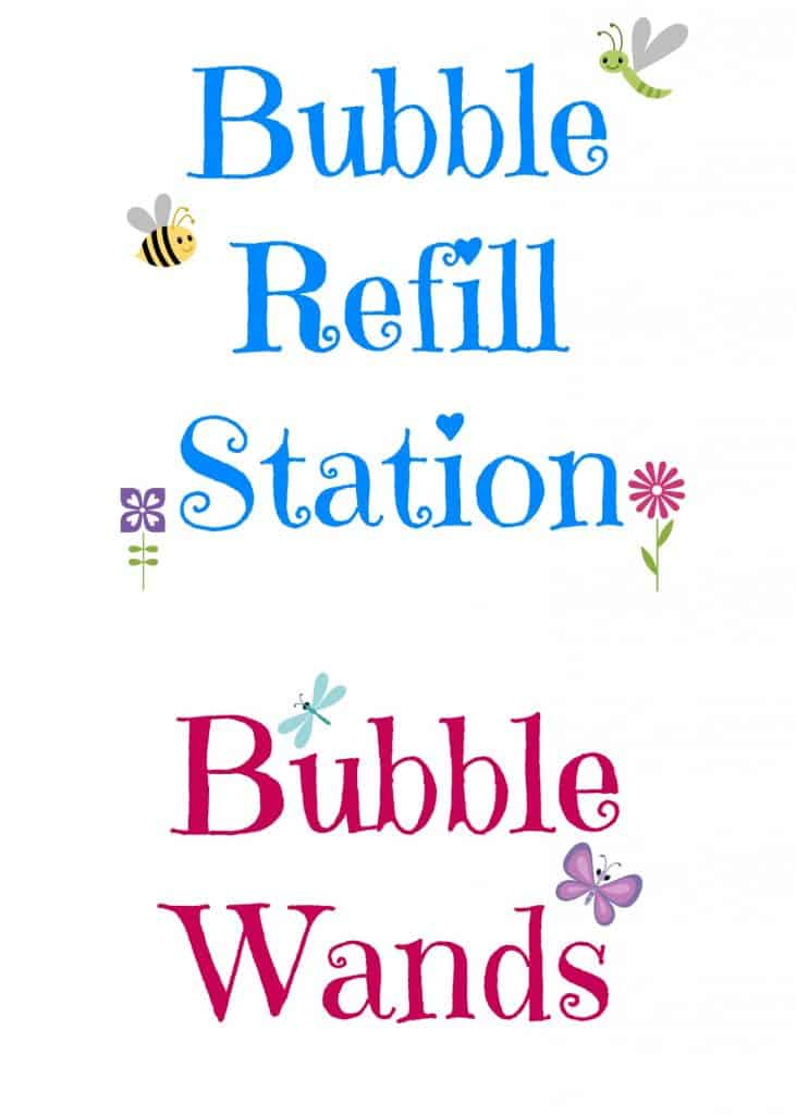 Bubble Station Free Printable