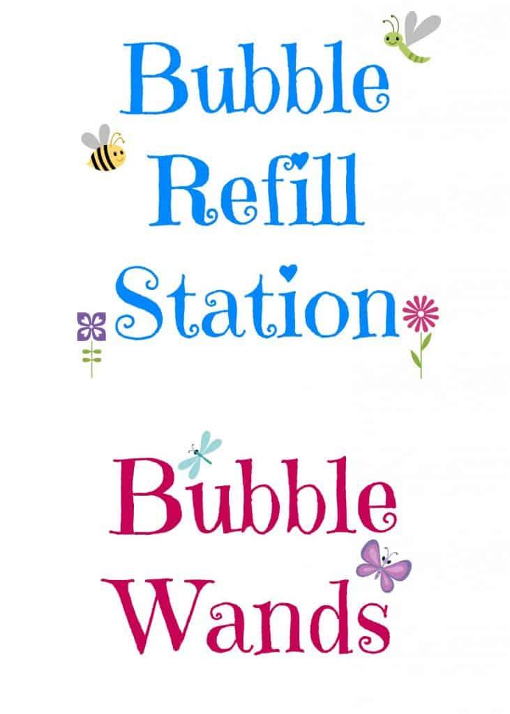 Bubble Station Free Printable