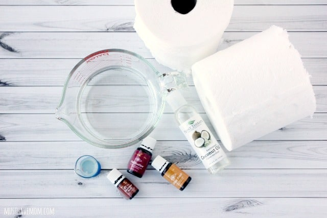 DIY Facial Wipes ingredients