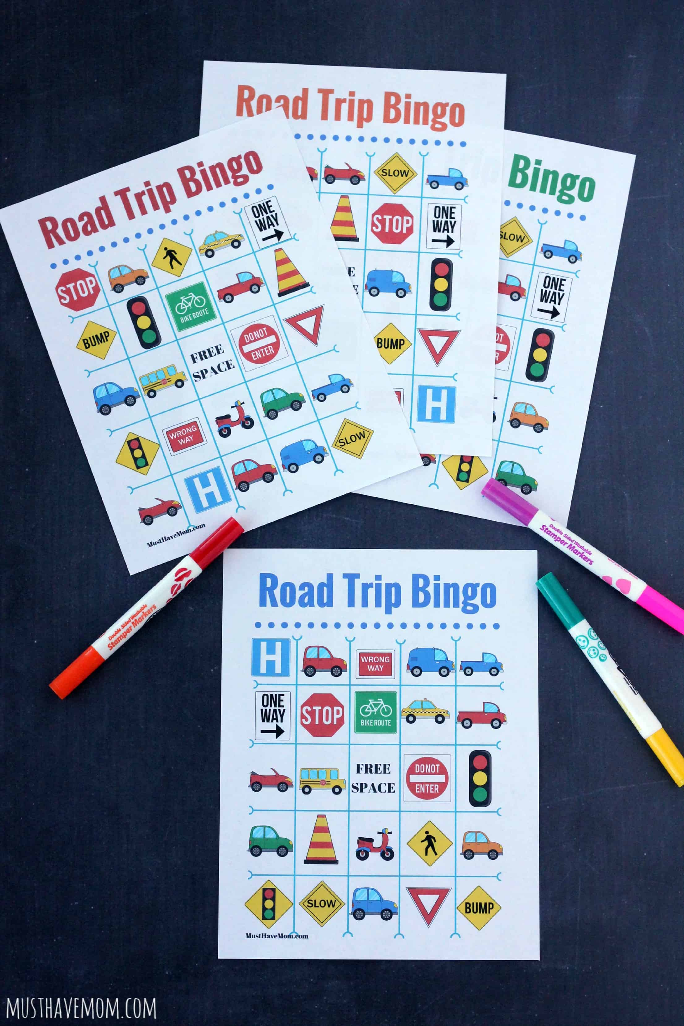 Free Road Trip Bingo Printable Game Boards