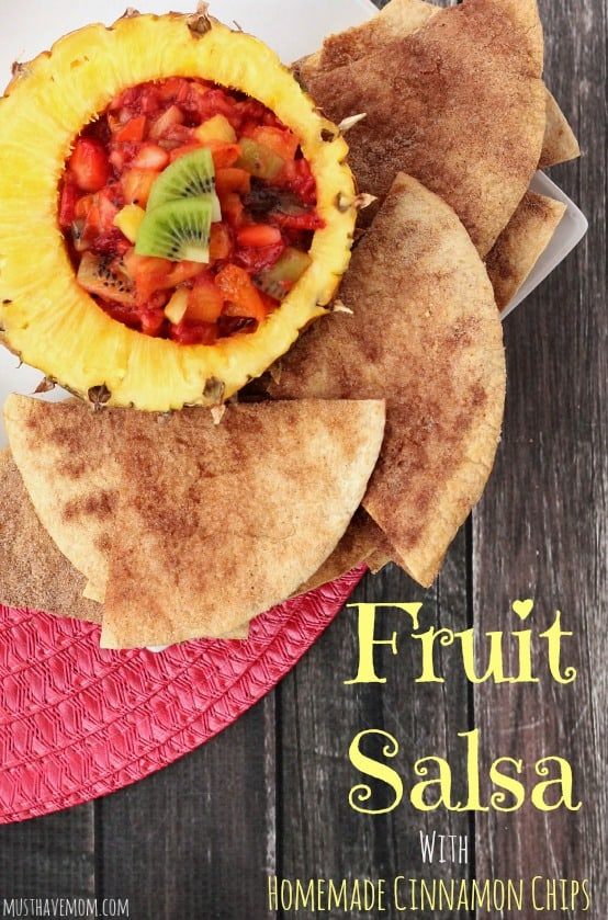 Fruit Salsa With Homemade Cinnamon Chips Recipe!