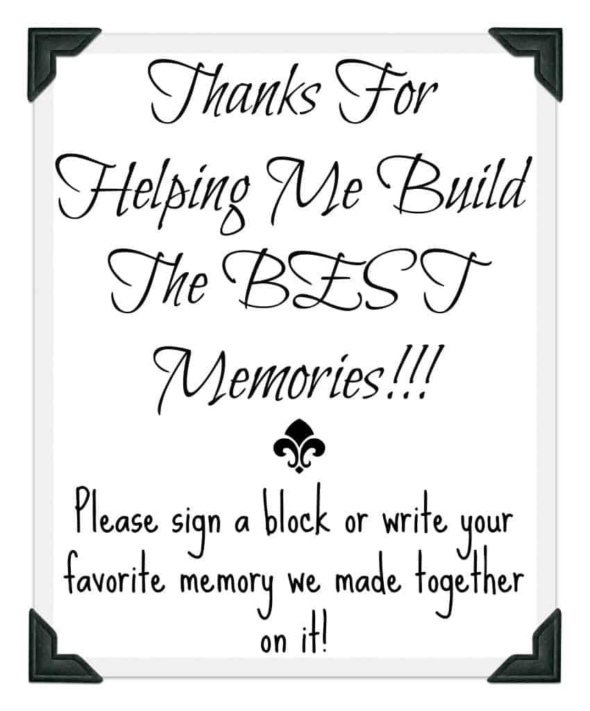 Graduation Memory Jenga Building Memories Free Printable