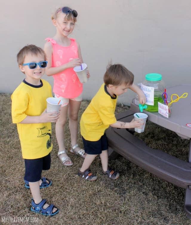 Kids Bubble Refill Station