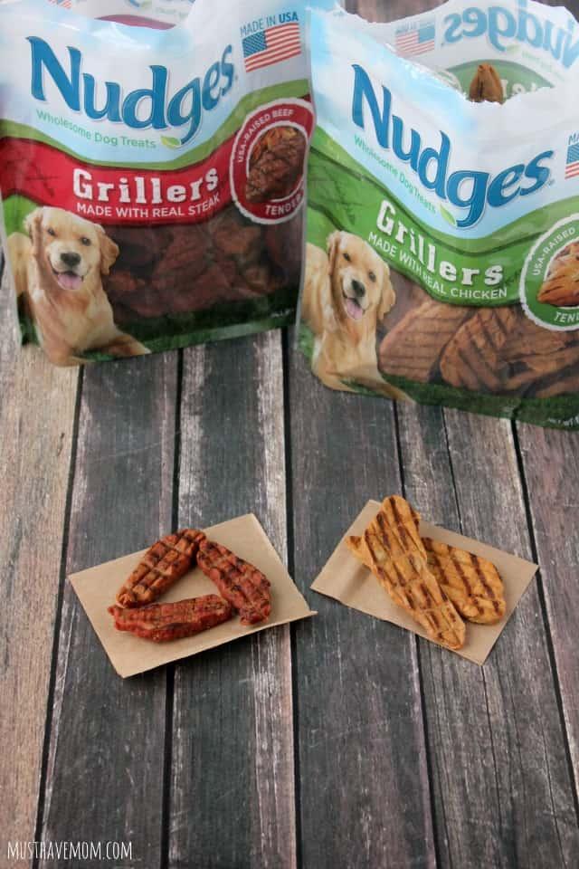 Nudges Grillers Dog Treats #NudgeThemBack
