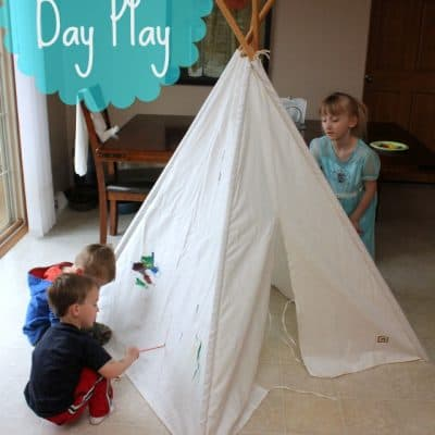 Rainy Day Play Idea! Paint A TeePee!