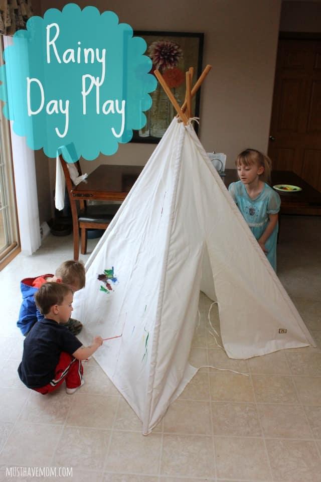 Rainy Day Play & Rainy Day Play Idea! Paint A TeePee! - Must Have Mom