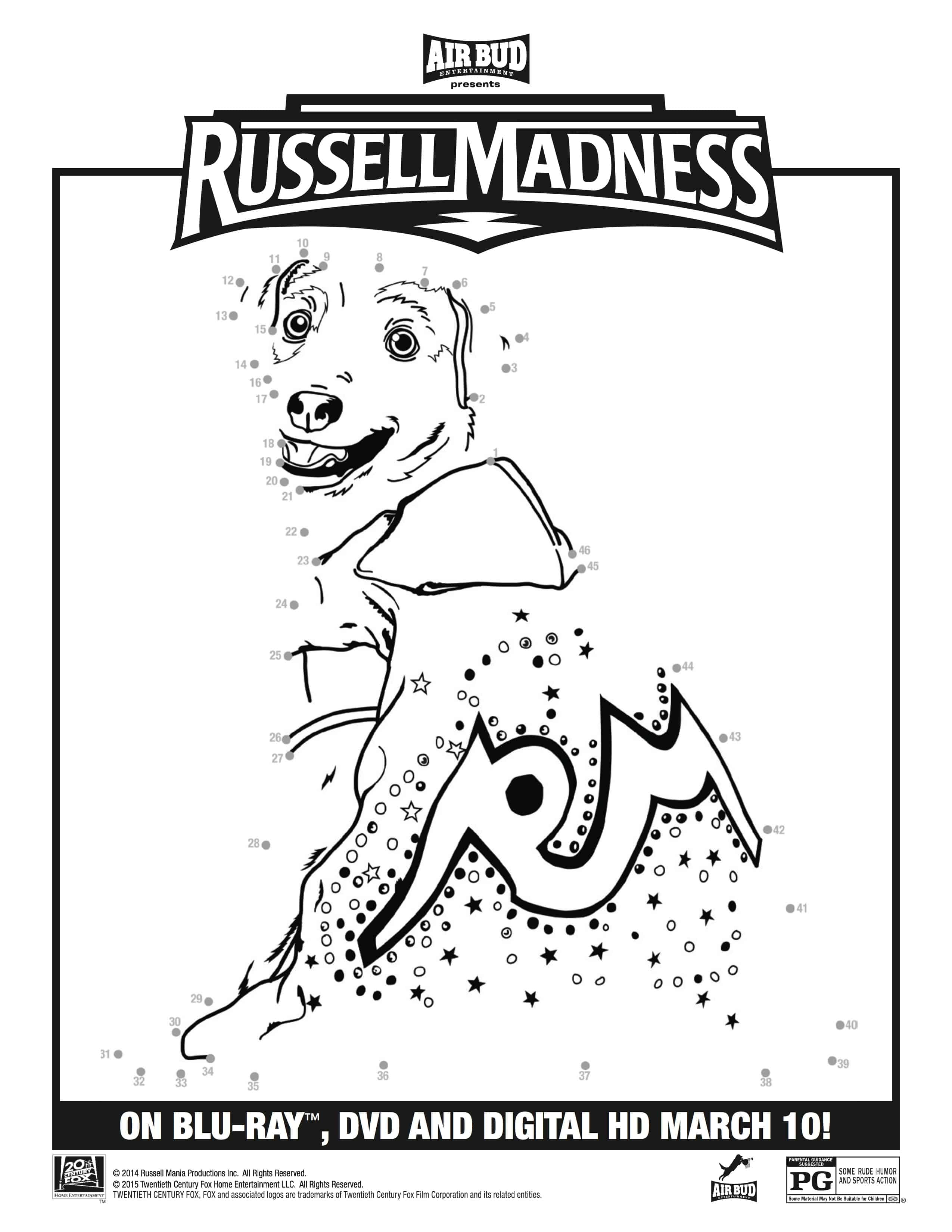 russell madness printable activity sheets