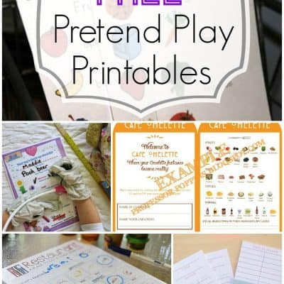 15 Pretend Play Ideas With Free Printables!