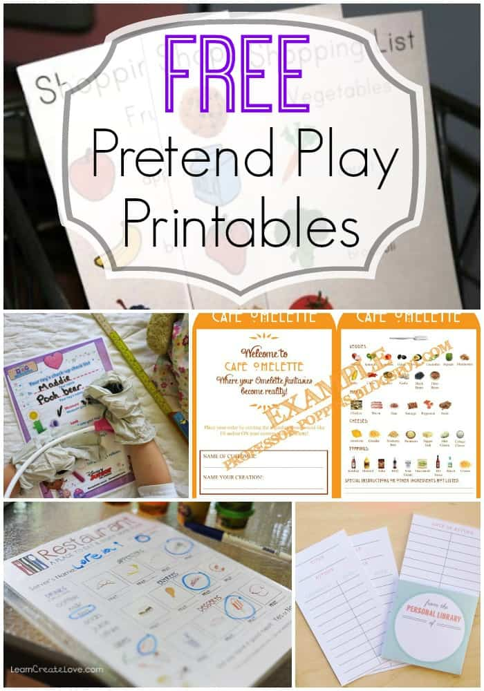 FREE Pretend Play printables and ideas to get your kids imaginations ...