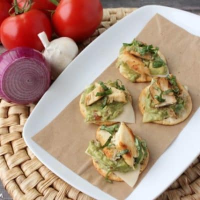 Chicken & Avocado Gluten Free Bruschetta Recipe