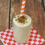 Chicken Alfredo Smoothie with Bacon and Green Onion Topping Recipe