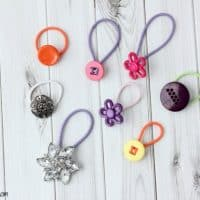 How To Turn A Button Into A Hair Tie In 5 Seconds Or Less!