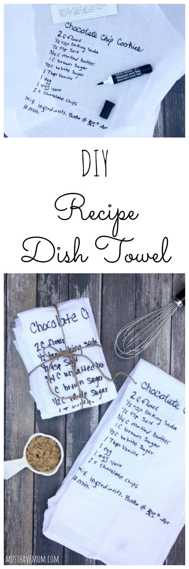 Diy Recipe Dish Towels Inexpensive Mother 39 S Day Gift Idea