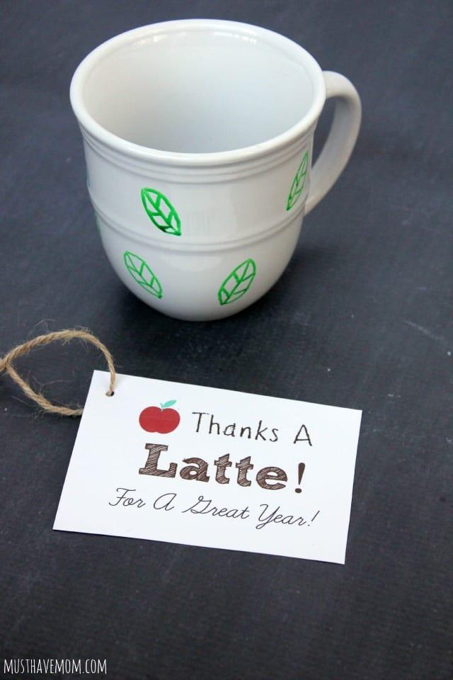 DIY Tea Mug and Free Printable Gift Tag